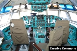 A cockpit of the same model of plane as that used by the North Korean leader.