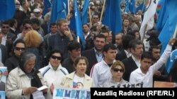 Участники сегодняшней акции протеста