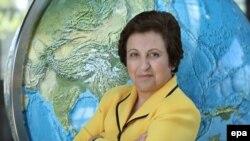 شیرین عبادی، برنده ایرانی جایزه صلح نوبل.