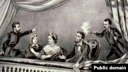 Убийство Авраама Линкольна, первого президента-республиканца. Литография