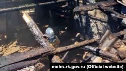 Ликвидация пожара в Нижнегорском районе Крыма, 27 мая 2021 года