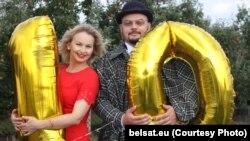 Журналісты тэлеканалу «Белсат» Аліна Коўшык і Яраслаў Сьцешык Белсат