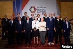 Učesnici Londonskog samita u okviru Berlinskog procesa za Zapadni Balkan, 10. juli 2018.