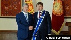 Алмазбек Атамбаев и Сапар Исаков. 15 октября 2016 года.