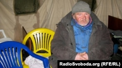 Homeless Kyiv man Ivan Brilyuk
