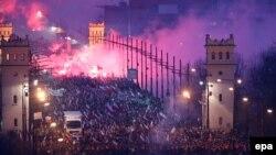 """""""Марш независимости"""" в Варшаве. 11 ноября 2014 года"""