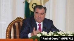 Tajikistan -- Emomali Rahmon president of Tajikistan, Dushanbe, 15Jan2013
