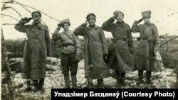 Салдаты расейскай імпэратарскай арміі пад Крэвам, лістапад 1917 году