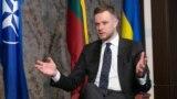 Габріелюс Ландсбергіс, міністр закордонних справ Литви: «Литва підтримує євроатлантичну інтеграцію України, а також при кожній нагоді відстоює територіальну цілісність України»