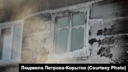 Жилой дом, в котором произошла авария, в Вихоревке