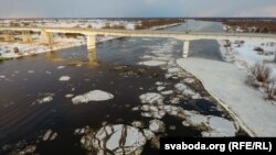 Мост паміж Жыткавічамі і Туравам, архіўнае фота