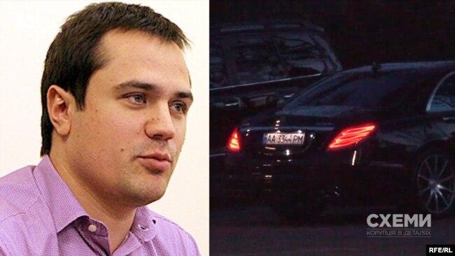 Mercedes, запаркований біля автомобілів депутата Столара, зареєстрований на Комарницького Дениса Сергійовича