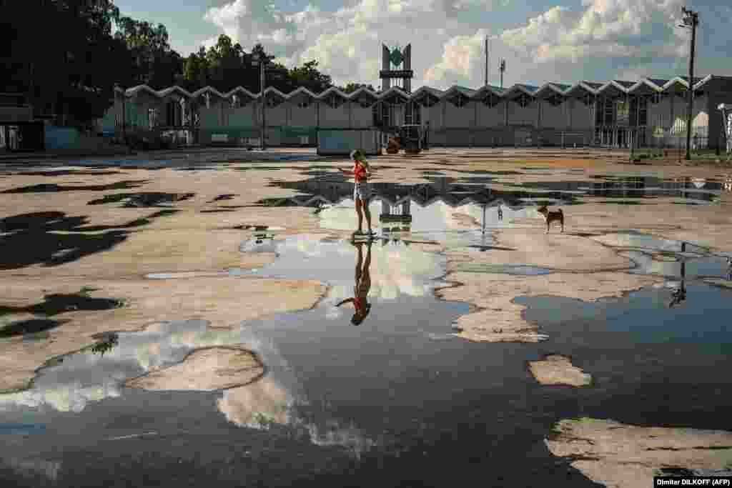 У парку Сакольнікі, Масква. (Dimitar Dikoff/AFP)