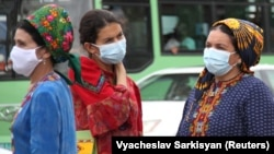 "Although the coronavirus officially does not exist in Turkmenistan, the authorities have been advising citizens to wear masks due to the potentially harmful effects of ""dust."""
