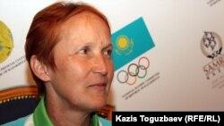 Ирина Сапиева, мать олимпийского чемпиона Серика Сапиева. Алматы, 14 августа 2012 года.