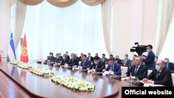 Кыргызстандан барган өкмөттүк делегация. Ташкент шаары. 24-март, 2021-жыл.