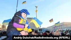 Еуроинтеграция жақтастарының шеруі. Украина, Киев, 22 желтоқсан 2013 жыл.