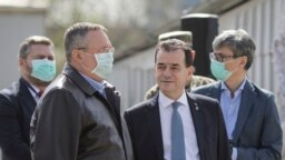 Prime minister Ludovic Orban and the cabinet during the coronavirus pandemia
