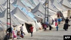 Թուրքիա - Սիրիացի փախստականների Քարքամիսի ճամբարը Գազիանթեփի մերձակայքում, հունվար, 2014թ․