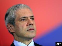 Boris Tadić tokom konferencije za novinare povodom odluke EU da se Srbiji ne dodeli status kandidata, 9. decembar 2011.