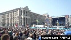 Proukrajinski skupovi u Kijevu i Lugansku, 23. mart