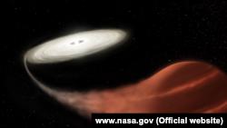 Ось такі фото рідкісного астрономічного явища опублікували на вебсайті NASA