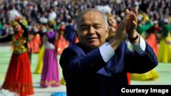 Өзбекстан президенті Ислам Каримов Наурыз мерекесінде жүр. Ташкент, 21 наурыз 2015 жыл.