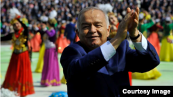 Президент Узбекистана Ислам Каримов на праздновании Наурыза (Новруза) в Ташкенте. 21 марта 2015 года.