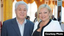 Moldova - Human rights ombudsperson Aurelia Grigoriu (R) attends a reception at the Azerbaijani Embassy in Chisinau, 28May2013. (Photo courtesy of http://www.kavkaz-uzel.ru/blogs/485/posts/15144)