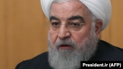 Iranian President Hassan Rohani presented the budget to parliament.
