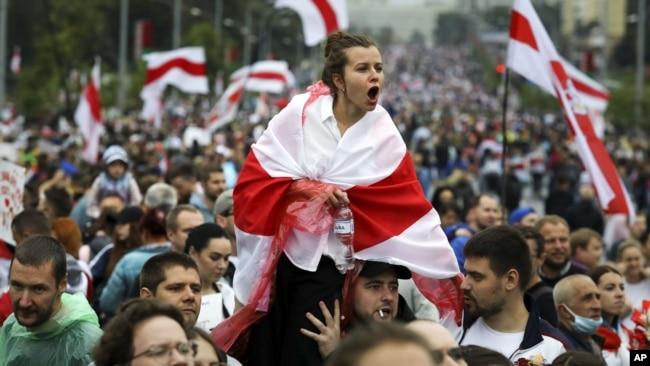 Массовые протесты в Минске, Беларусь, 6 сентября 2021 года