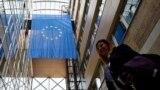 Zastava Evropske unije u zgradi Delegacije EU u BiH, Sarajevo