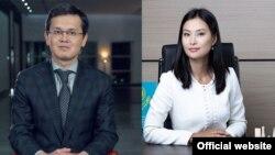 Новые вице-министры цифрового развития Багдат Мусин и торговли и интеграции Асель Жанасова.