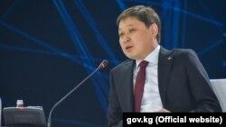 Премьер-министр Кыргызстана Сапар Исаков на форуме «Цифровая повестка в эпоху глобализации». Алматы, 2 февраля 2018 года.