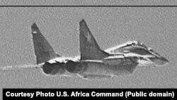 Предположительно переброшенный в Ливию российский боевой самолёт