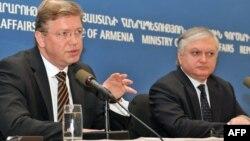 Էդվարդ Նալբանդյանի և Շտեֆան Ֆյուլեի համատեղ ասուլիսը Երևանում, արխիվ