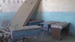 """Orta məktəbi və evi """"qrad""""la vurublar"""