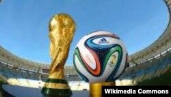 Быйылкы Дүйнөлүк футбол мелдешинин расмий кубогу жана тобу.