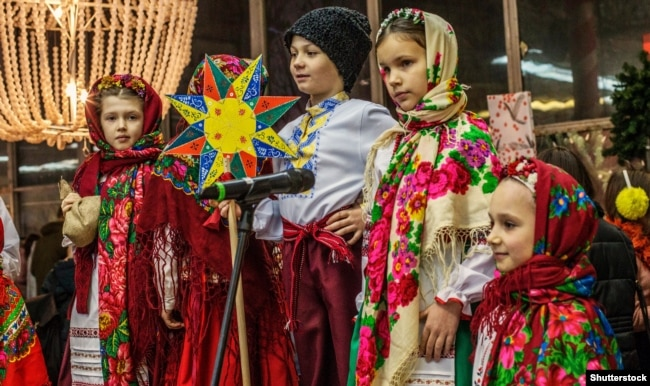 Під час відзначення Різдва у Києві. Грудень 2018 року