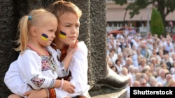 Діти під час відзначення Дня Незалежності України. Львів, 24 серпня 2013 року