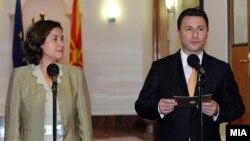 Кас Грање вчера се сретна со Груевски