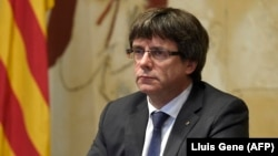 کارلوس پوجدمان، رئیس دولت محلی کاتالونیا، روز دوشنبه بار دیگر بر حق این منطقه برای استقلال از اسپانیا تاکید کرد.