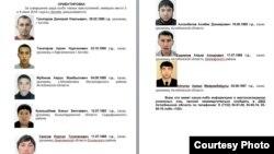Ориентировка МВД Казахстана на розыск подозреваемых