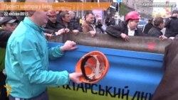 На вагонетці по Хрещатику: шахтарський протест у центрі Києва