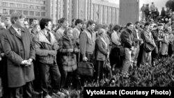 Першая чарнобылськая акцыя ў Менску ў 1989 годзе