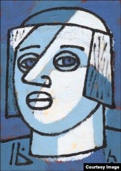 Адам Глобус, «Малады хлопец», 2016 год. Папера, акрыл 30×21 см
