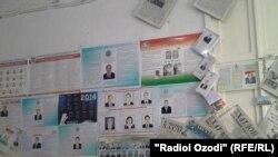 Душанбедеги шайлоо баракчалары. 27-февраль, 2015-жыл.