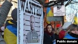 Акція біля посольства Росії у Лондоні, 18 січня 2015 року