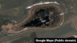 Озеро Сладкое на карте Google Maps