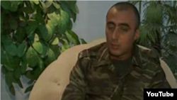 Azerbaijan -- Armenian POW Hakob Injighulian is interviewed by Azerbaijani television, 12Aug2013.